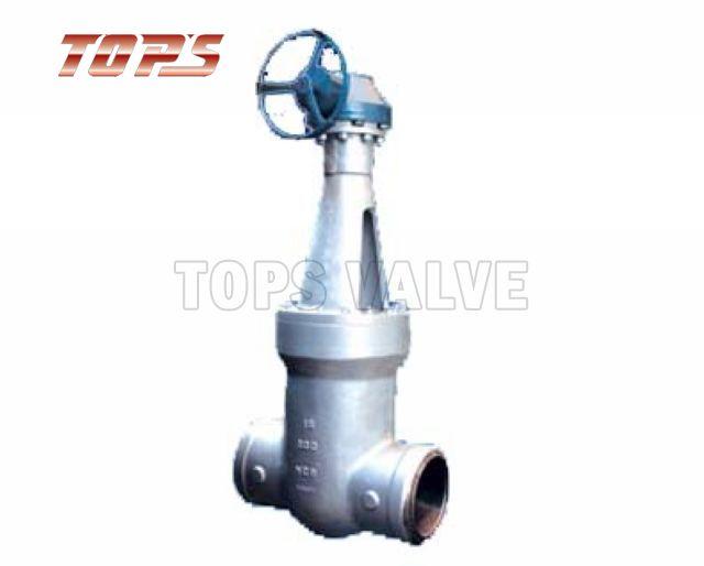 Gate valve stainless steel pressure seal